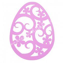 Dekorgumi, tojás, rózsaszín, 19x25 cm