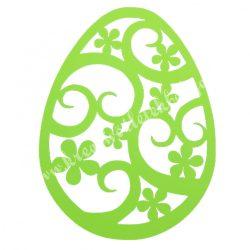 Dekorgumi, tojás, zöld, 19x25 cm