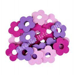 Dekorgumi duci virágok,  mini, rózsaszínes, 20 db