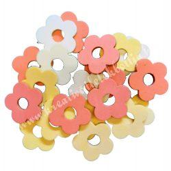 Dekorgumi duci virágok,  mini, sárgás, 20 db