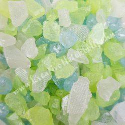 Dekorkavics, zöld-kék-fehér, 125 gr/csomag
