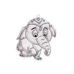 Festhető forma matricafestékhez, elefánt