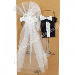 Esküvői pár, pezsgőpohár szett, menyasszony-vőlegény