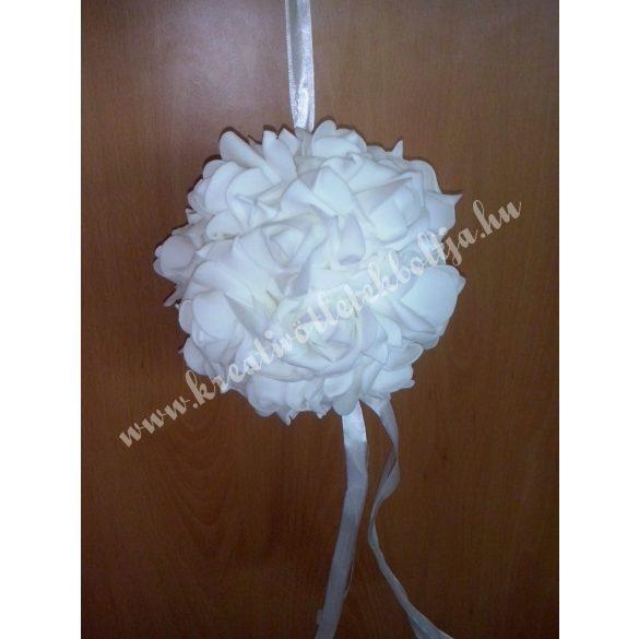 Akasztható gömb rózsákkal