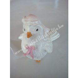 Fehér galamb, lány, 5,5x6,5 cm, 1 darab