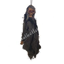 Rém, szürke ruhában, 10x22 cm