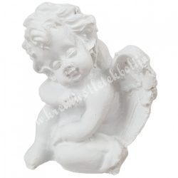 Polyresin ülő angyal, alvó, 3,5x4,5 cm