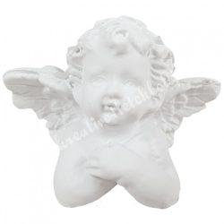 Polyresin könyöklő angyal, 4,5x3,5 cm
