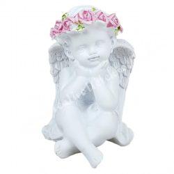Polyresin angyal, könyöklő, 5,5x10 cm