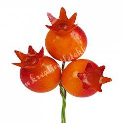 Betűzős narancssárga gránátalma, nagy, 3 db/csokor