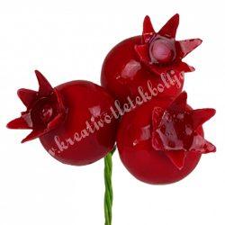 Betűzős piros gránátalma, nagy, 3 db/csokor