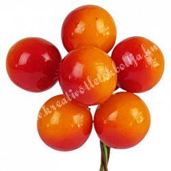 Betűzős narancssárga bogyó, 6 db/csokor