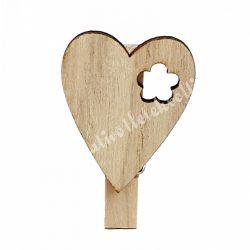 Natúr facsipesz, fa szívvel