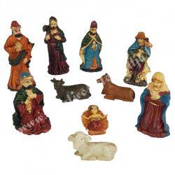 Polyresin Betlehem figurák, 10 db/csomag