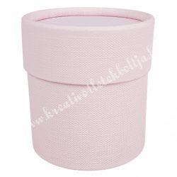 Papírdoboz, henger, rózsaszín, 7x7,5 cm