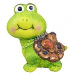 Kerámia teknős, zöld, 10x10,5 cm cm