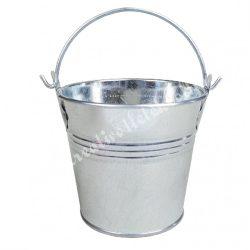 Bádog vödör, ezüst, 8x8 cm