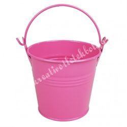 Bádog vödör, pink, 8x8 cm