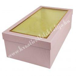 Papírdoboz, téglalap, vintage rózsaszín, 37x12x20 cm