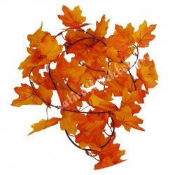 Őszi levélgirland, narancssárga-bordó, 197 cm