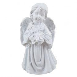 Polyresin angyal, gyertyával, 5x7 cm