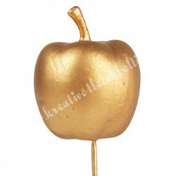Betűzős alma, arany, 3,3x4 cm