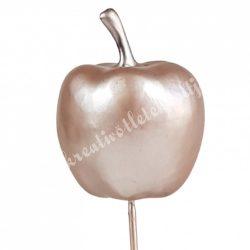 Betűzős alma, rosegold, 3,3x4 cm