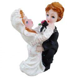 Esküvői pár, 3x4,5 cm