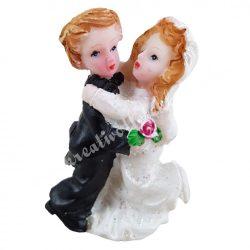Esküvői pár, 3x4,8 cm
