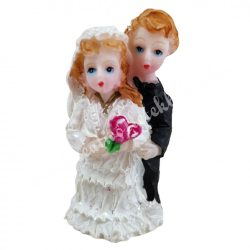 Esküvői pár, 2,5x4,5 cm