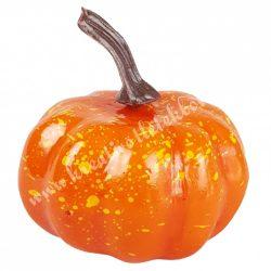 Hungarocell kerek tök, narancs, barna szárral, 6x7 cm