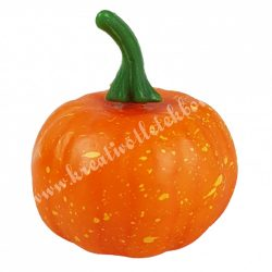 Hungarocell kerek tök, narancs, zöld szárral, 6x7 cm