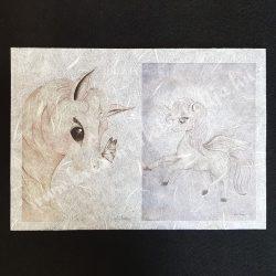 Ezüst unikornisos rizspapír (A4)