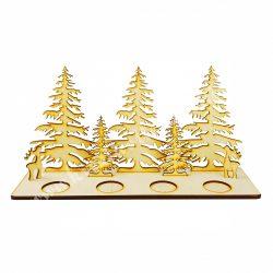 Fa adventi erdős mécsestartó