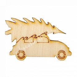 Fa autó fenyővel