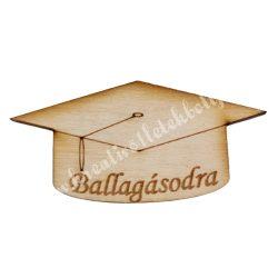 Fa diplomaosztó kalap, Ballagásodra, 6,3x3,3 cm