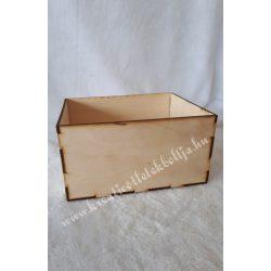 Fa dobozka téglalap