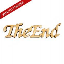 Fa felirat, The End, 15x3,8 cm