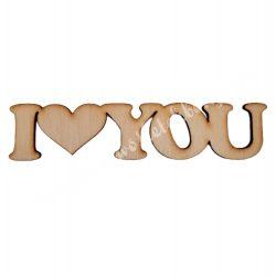 Fa felirat I love you, nagy