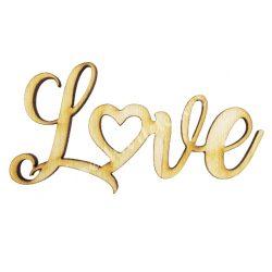 "Fa felirat ""Love"", 9x4,5 cm"