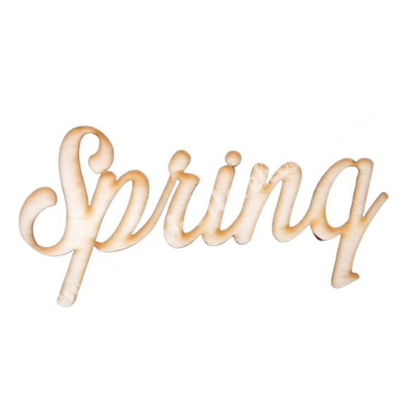 Fa felirat, Spring, 13,5x6,5 cm