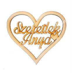 Fa felirat Szeretlek Anya szívben