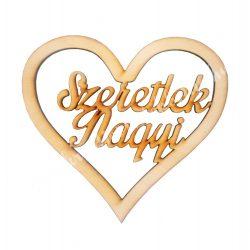 Fa felirat Szeretlek Nagyi szívben