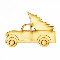 Fa furgon fenyővel