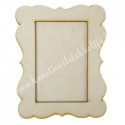 Fa képkeret, íves szélű, téglalap, 15x19 cm