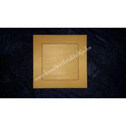 Fa képkeret,négyzet, kb.156x156 mm