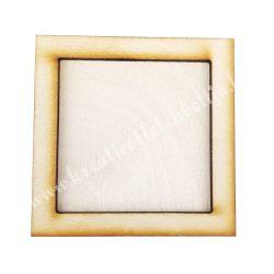 Fa képkeret,négyzet, 6,5x0,8x6,5 cm