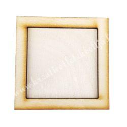 Fa képkeret,négyzet, 10x0,8x10 cm