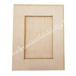 Összeragasztható fa képkeret, téglalap, 17,5x22,5 cm