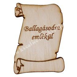 Fa pergamen, Ballagásodra emlékül, 5,7x8,2 cm